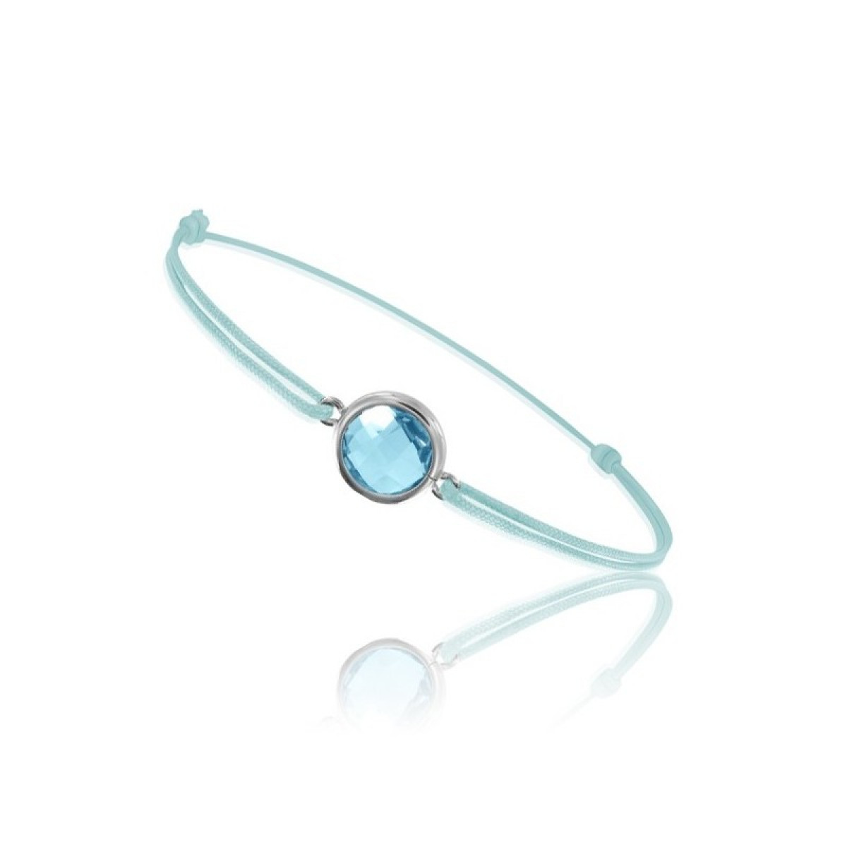 Cord Bracelet With Blue Topaz For Woman Be Jewels